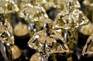 Replicas of the Academy Awards statue that are sold in Hollywood. Image: Antoine Taveneaux