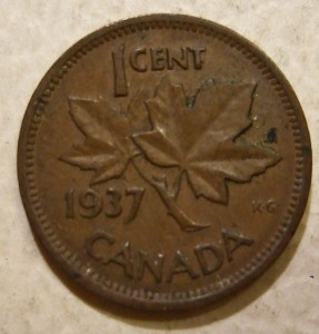 "The iconic maple leaves have appeared on the penny since 1937. Image: Jerry ""Woody"""
