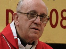 Jorge Bergoglio is seen here in 2008 while a Cardinal. Image: Aibdescalzo