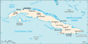 Map of Cuba. Image: the United States Central Intelligence Agency's World Factbook
