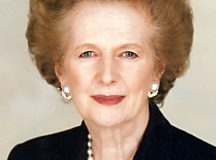 Former British Prime Minister, Margaret Thatcher. Work provided by Chris Collins of the Margaret Thatcher Foundation