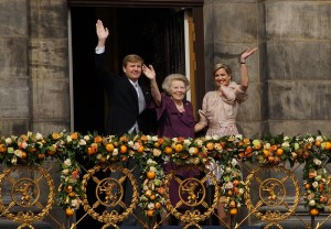 Willem-Alexander, the new king of Holland and his mother.