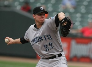 Roy Halladay pitching for the Toronto Blue Jays in 2009. Image:  Keith Allison