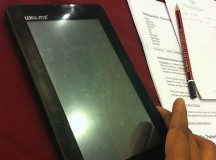 A prototype (model) of the Ubislate tablet. Image: psubhashish