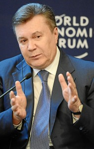 Viktor Yanukovych at the Annual Meeting 2013 of the World Economic Forum in  Switzerland, January 24, 2013. Image: World Economic Forum