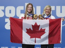 Kaillie Humphries and Heather Moyse. Image: Canadian Olympic Committee - Mike Ridewood
