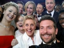 "The ""selfie"" Ellen DeGeneres took at the 2014 Oscars."