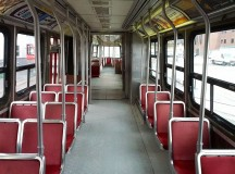An photograph of the inside of a TTC bus. Image: 분당선M