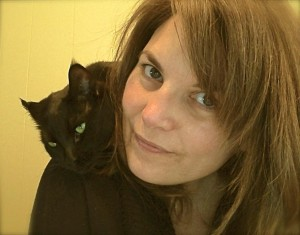 Jen Morozowich and her cat, Wilma. Morozowich hopes to open the Kitty Cat Cafe in Toronto.