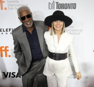 Actor Morgan Freeman and actress Diane Keaton are in Toronto for the Toronto International Film Festival (TIFF). Image: Toronto Star,  Vince Talotta.
