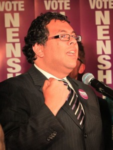 Naheed Nenshi after winning the Calgary municipal election, 2010. Image: Ted Buracas