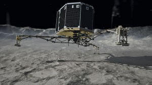 Rosetta's Philae touchdown. Image: DLR German Aerospace Center