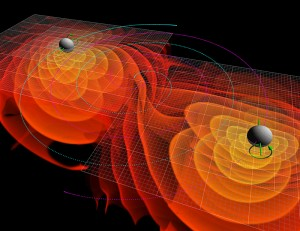 Merging BlackHoles. Image: NASA