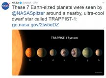 NASA capture seven planets. Image: NASA
