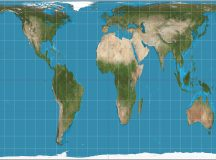 A map showing the Gall Peters world view.