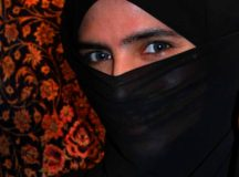 Woman in a niqab