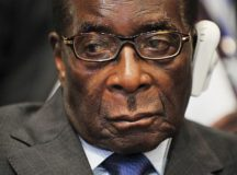 Head shot of Robert Mugabe, taken in Addis Ababa, Ethiopia, in 2009.