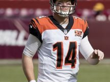 Cincinnati Bengals quarterback, Andy Dalton, playing against the Washington Redskins in a preseason game on August 27, 2017. Image: Keith Allison