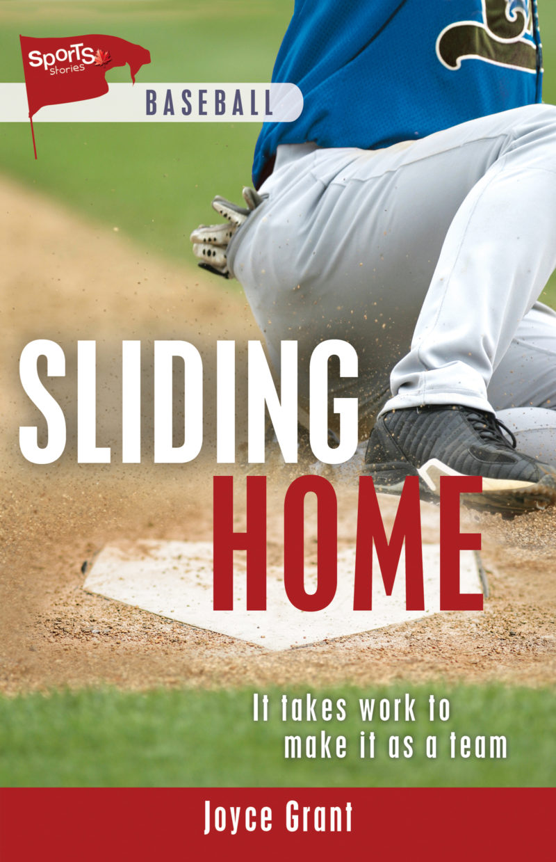 cover of middle grade novel sliding home by joyce grant