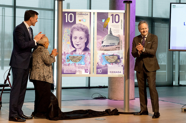 Viola Desmond $10 Bill Unveiled. Image: Bank of Canada