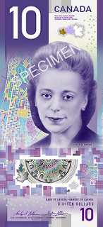 A picture of the new Canadian $10 bill featuring Canadian hero Viola Desmond.