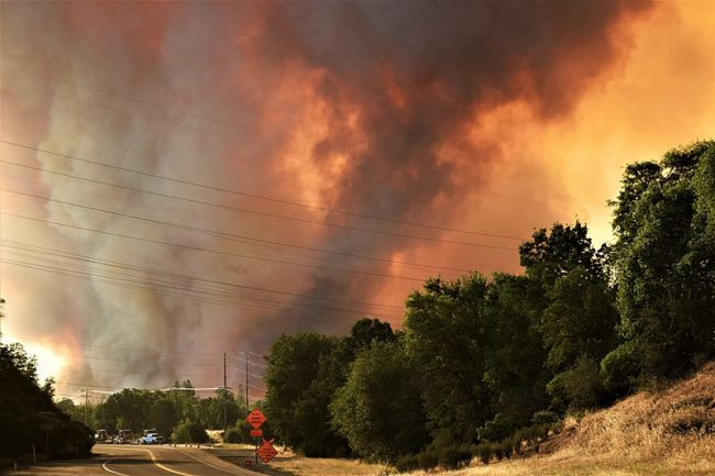 The Carr Fire is a 2018 California wildfire that burned in Shasta and Trinity counties. Image: Eric Coulter, BLM.