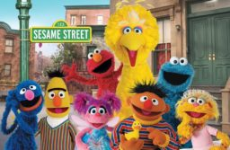Colourful image of the muppets from Sesame Street