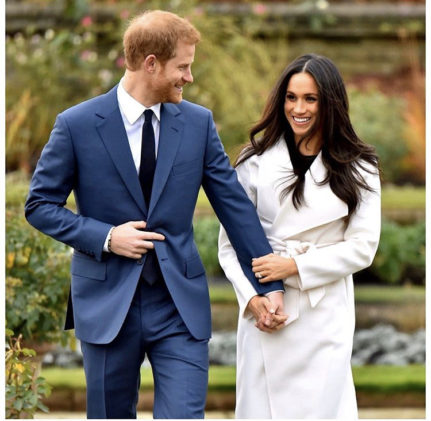 Prince Harry and Meghan; photo from sussexroyal on instagram