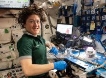 To illustrate the news article about astronaut Christina Koch