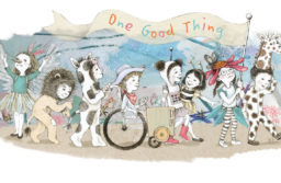 A beautiful illustration of a preschool parade that is One Good Thing, by Rebecca Bender.
