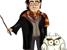 Illustration of Harry Potter and his owl, by creozavr, https://pixabay.com/users/creozavr-2567670/